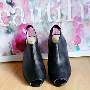 J. JILL | Slingback Black Leather Heels  Sz. 9.5